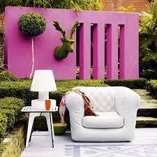 colourful outdoor wall garden wall decor ideas