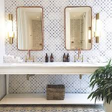 Brass Faucets Bathroom by Interiors La La Lovely