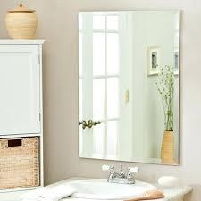 Rectangular Bathroom Mirrors Hang Frameless Mirror Wall Rectangular Bathroom Mirror Design