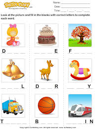 find the missing letters to complete the words worksheet turtle