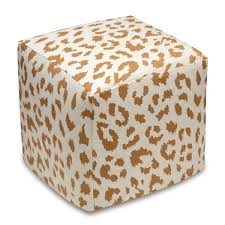 living room cube leopard print ottoman coffee table with modern