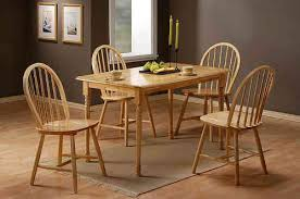 Wooden Dining Table And Chairs Homegenies - Rubberwood kitchen table