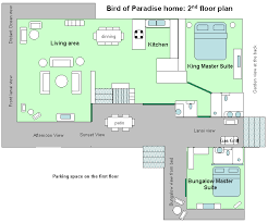 vacation home floor plans floor plan of bird of paradise poipu kauai vacation rental home