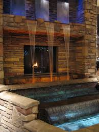 fireplace and a waterfall for the home pinterest wall fireplace and a waterfall