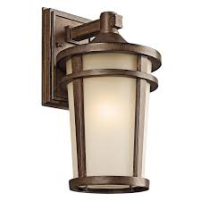 kichler 49072bst one light outdoor wall mount wall porch lights