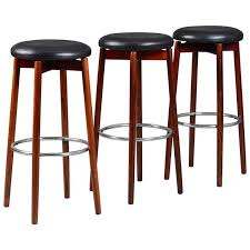 danish bar stools set of three mid century danish solid rosewood bar stools for sale