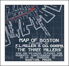 Map Of Boston Ma Map Of Boston Massachusetts Blueprint Map Boston Map Vintage