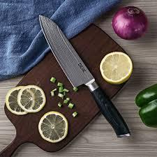 razor sharp kitchen knives deik kitchen knife professional chef damascus vg10 steel razor