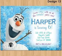 Where To Buy Birthday Invitation Cards Olaf Invitation Frozen Olaf Birthday Invitation Printable