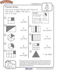 fraction action u2013 2nd grade math worksheets u2013 jumpstart