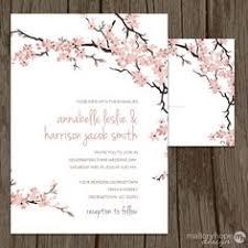 cherry blossom wedding invitations printed wedding invitation and info card bundle pink cherry