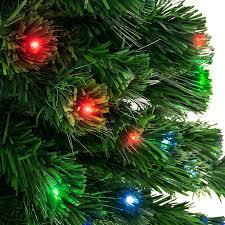 amazon com pre lit fiber optic 7 u0027 artificial christmas tree led