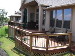 home design partially covered deck ideas driveways decorators