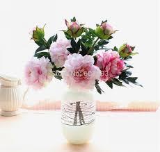 Peony Arrangement Aliexpress Com Buy Artificial Peony Faux Silk Flowers Wedding