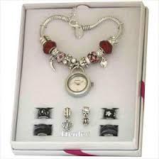 beaded bracelet watches images Henley glamour pandora style watch charm red bead bracelet amazon jpg