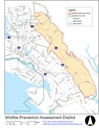 Oakland Map Diablo Firesafe Council
