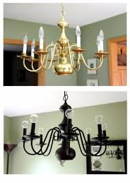 Brass Chandelier Makeover 33 Cool Diy Chandelier Makeovers To Transform Any Room Diy