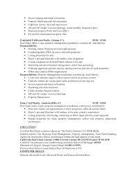 property management resume 2015 resume property management