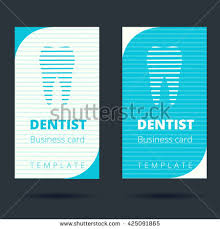 Dental Business Card Designs Dentist Stomatologist Business Card Template Tooth Stock Vector