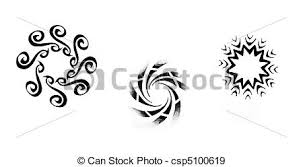 stock photographs of tattoo art sketch of a black tribal sun