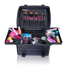 makeup artist box shany soft makeup artist rolling trolley cosmetic with free