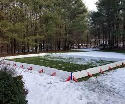 Making Backyard Ice Rink Backyard Ice Rink