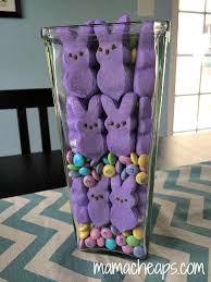 Candy Vases Centerpieces Easy Easter Candy Centerpieces Peeps M U0026ms And Chocolate Bunnies