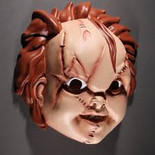 chucky mask of chucky chucky plastic mask mezco toyz