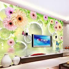 wallpaper bunga lingkaran kustom foto wallpaper living room bedroom latar belakang wall decor