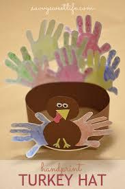 thanksgiving handprint turkey hat savvy sweet