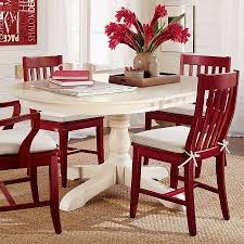 Paint Dining Table And Chairs With RustOleum X Cranberry COLOR - Red kitchen table and chairs