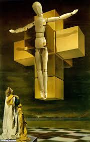 wooden jesus on cross by dali pictures
