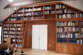 Rolling Ladder Bookcase On Ladders How You Can Improve Movability Of A Ladder