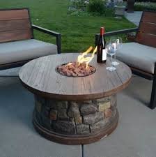 Patio Table With Firepit Lovely Gas Deck Pit Outdoor Pits Residence For Decks