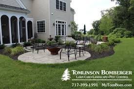 Patio With Firepit Flagstone Patio For Fire Pit Area In Lititz Pa Tomlinson Bomberger