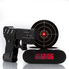 lock n u0027 load gun alarm clock target alarm clocks target and guns