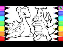 pokemon coloring book pages lapras dragonite learn