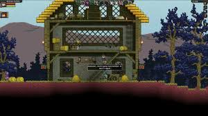 starbound part 2 time to build a house excited potato u0026 moshy