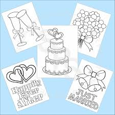 5 printable wedding favor kids coloring pages pdf jpeg file