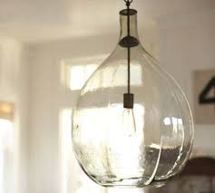 Custom 10 Inch Globe Hand Blown Glass Pendant Lighting By Inside