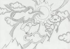 clouds and woman tattoo sketch photo 2 real photo pictures