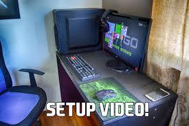 furniture ultimate 2015 gaming pc setup by paragon gaming desk