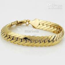 bracelet snake chain images 2018 mens 18k gold filled herringbone bracelet snake chain gift jpg