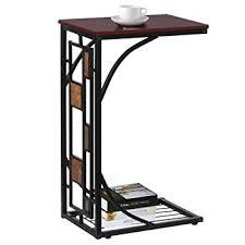 sofa c table amazon com topeakmart c shaped side sofa snack table coffee tray