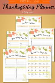 free thanksgiving planner printable guest list thanksgiving and
