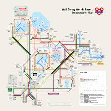 Disney World Epcot Map Walt Disney World Transportation Map In Metro Style
