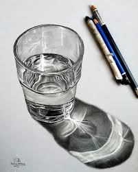 50 still life drawing ideas for art students water glass and