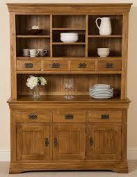 french rustic solid oak large welsh dresser cabinet wall unit