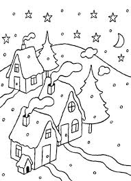 100 ideas snow scene coloring pages on emergingartspdx com