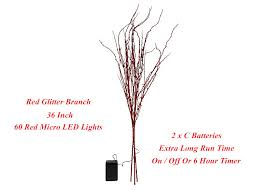bethlehem lights battery operated led glitter branch 36 inch